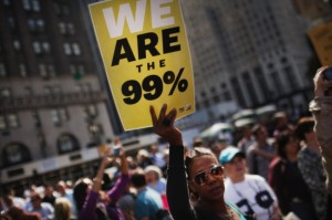 Occupy Wall Street Protestors March Down New York's Fifth Avenue